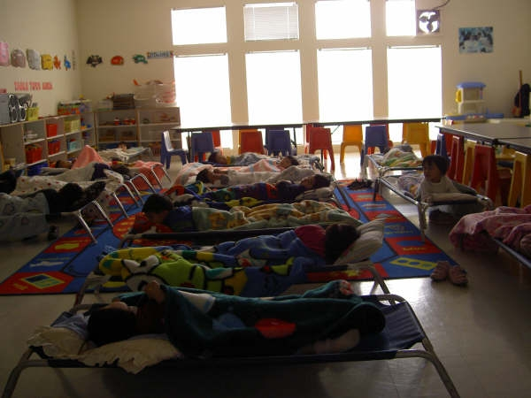 The infant room at daycare lucas takes a nap at daycare bonus picture